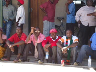 Men waiting for Chipolopolo Cup in Kalomo