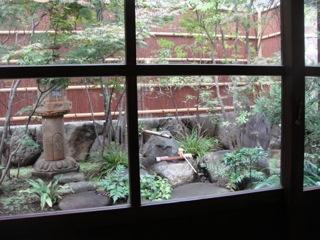 蕎麦屋 中庭
