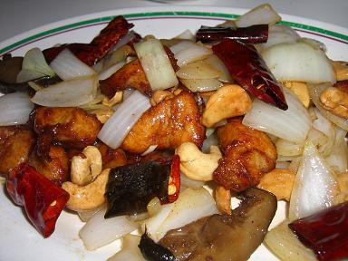鶏肉とカシュー炒め