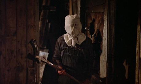 ホッケーマスク前