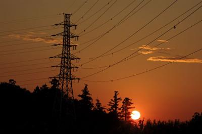 夕日と霞ヶ浦線