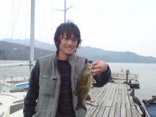 20080501 桟橋にて 野口君