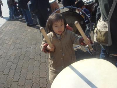 2008.1.6 神戸市消防出初式 和太鼓②