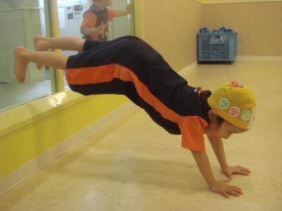 2008.1.10 コナミ 体操前 こんなのもできるようになったよ!