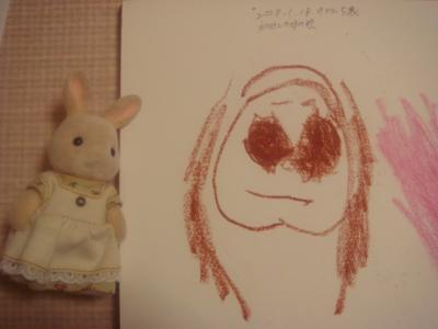 2008.1.22 のどかが初めて描いてくれた「お母さん」の絵