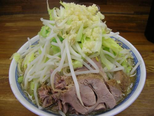 ラーメン二郎 新小金井街道店 野菜ましまし にんにく からめ あぶら つけ麺 小豚
