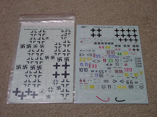 フォッケデカール48と72 D-9&Ta-152