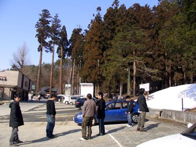 お寺の駐車場