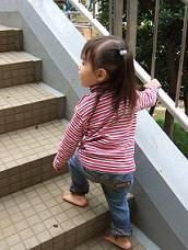 裸足で階段@夢パーク