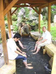 平湯の足湯