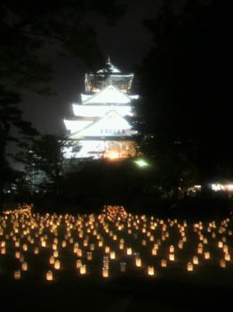 大阪城 城灯りの景4