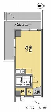 ドミール下井草201間取図