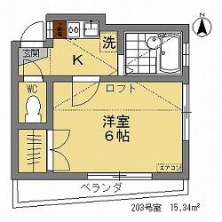 ETハウス203間取図