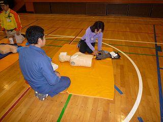 防災訓練AED
