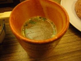 水炊き飲むスープ