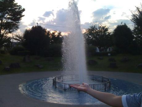 泉の広場の噴水