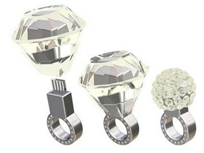 Swarovsky ring USB flash drive