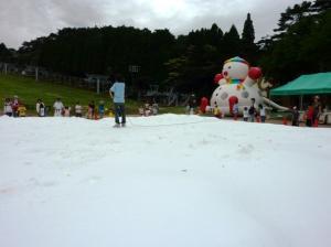 真夏の雪祭り