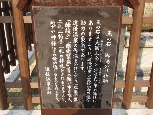 道後温泉 玉の石2