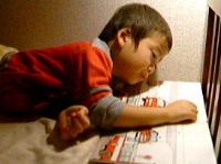 「お母さんに、絵本読んであげるね!」