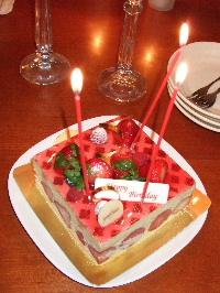 ジェラール・ミュロのバースデーケーキ