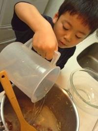 カレーの作り方 「常温の水を加える」