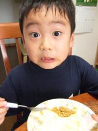 バースデーカレー 「もう食べちゃった!」