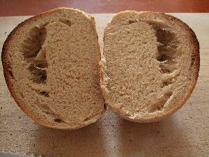 パンを切ったところ