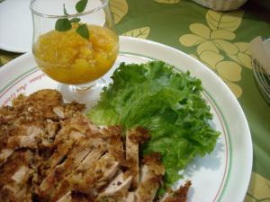 鶏肉のマカダミアナッツ焼き