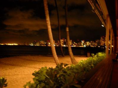ビーチ夜景