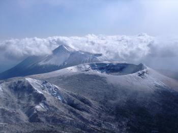 雪の韓国岳 150 - コピー