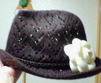 11/27コサージュ付帽子