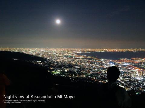 摩耶山掬星台の神戸の夜景