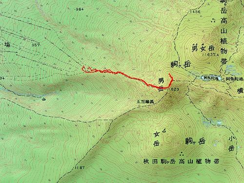 s-2008.3.29秋田駒ヶ岳行程