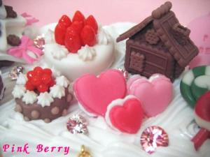 """""""おかしの国のクリスマス"""" なDS lightケースのスイーツデコ おかしの家とケーキ"""