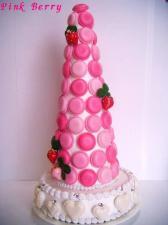 Pink Berry マカロンタワー 全体
