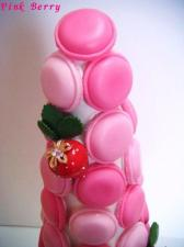 Pink Berry マカロンタワー 上段アップ