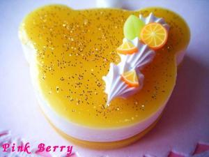 クマちゃんのキラキラ ケーキ(オレンジVer.) 上から