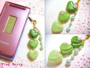 桜カラフルハートマカロン(グリーン)