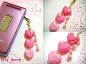 桜カラフルハートマカロン(ピンク)