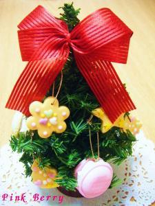 お菓子のクリスマスツリー