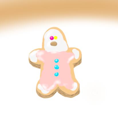 呪いの人形っぽいクッキー
