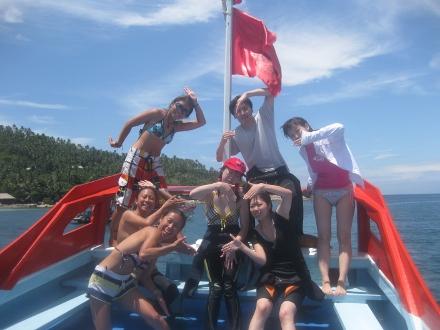 タオ島 ダイビング イルカ 記念撮影