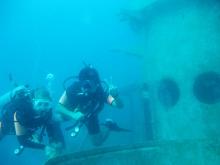 タオ島 ダイビング 沈船ダイブ ダイバー