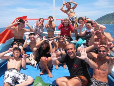 タオ島 ダイビング ジンベイさま17SEP11