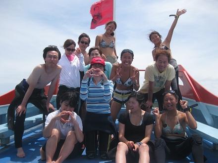 タオ島 ダイビング 集合写真 ライセンスコース