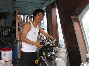タイ・タオ島・ダイビング・オープンウォーター講習・ボート