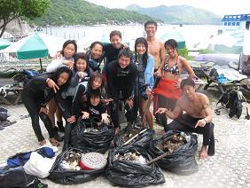 タイ・タオ島・ダイビング・水中クリーンナップ