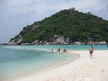 タイ・タオ島・ダイビング・ナンユアン島ビーチ