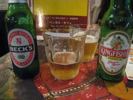 ベンガルカフェのビール